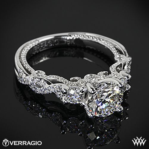Verragio Braided 3 Stone Engagement Ring with a 1.035ct A CUT ABOVE $4,200