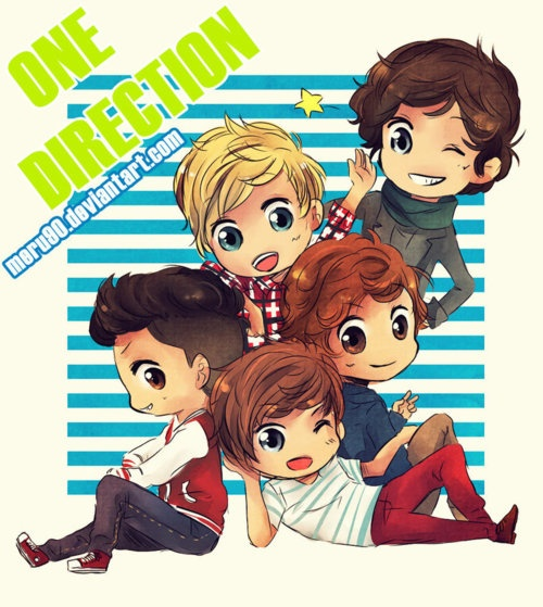 one direction pictures cartoon | Ekkies World: One Direction Cartoon they are so cute