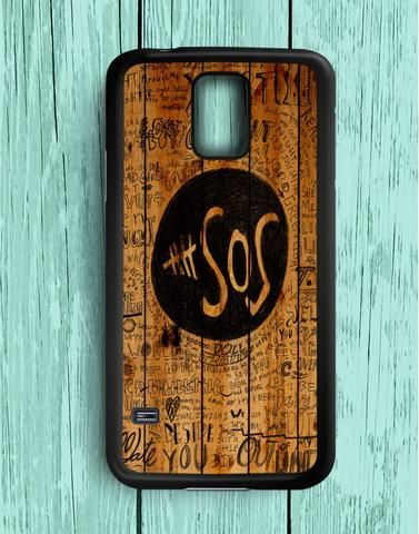 5 Second Of Summer Fans Quotes On Wood Samsung Galaxy S5 Case