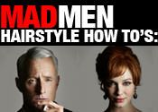Mad About Mad Men: How to Get Roger and Joan's Signature Hairstyles | Latest-Hairstyles.com