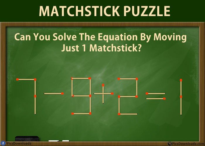 Solve these 5 difficult Matchstick Puzzles Riddles (with ...