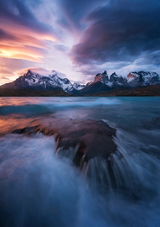 """etherealvistas: """"Patagonian Winds, Lago Pehoe (Chile) by FelixInden 