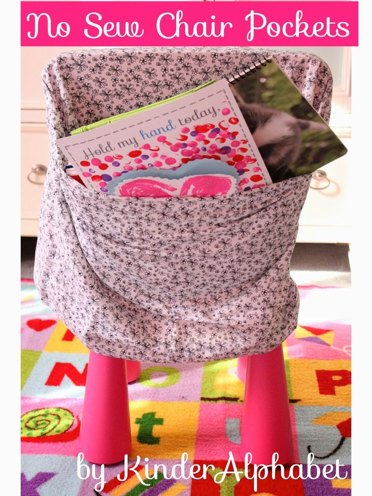 Bright Ideas Blog Hop - This looks like great and inexpensive alternative to purchasing chair pockets. Also easy to clean. Just throw them in the laundry!