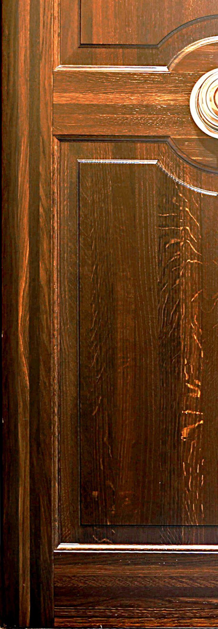 Custom door in stained oak