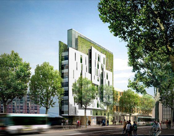 résidence étudiante de 65 logements porte de Vanves à Paris 14 | Projet | Jacques Ripault Architecture | Atelier d'architecture Ripault