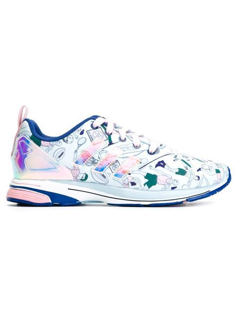 Multicolour 'ZX Flux' sneakers from Mary Katrantzou X Adidas Originals