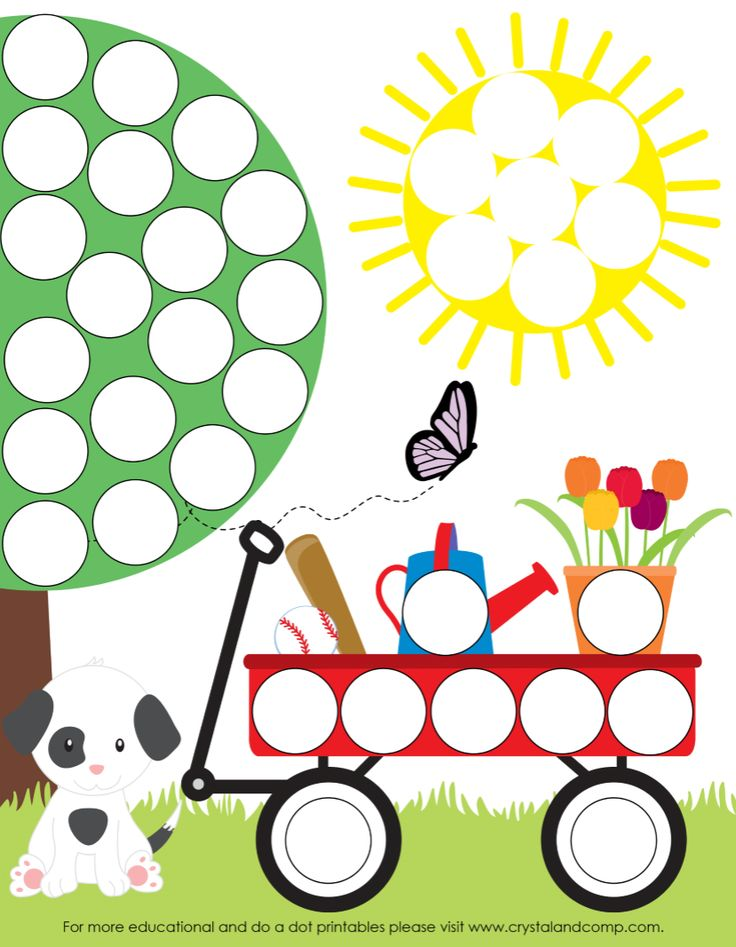 Preschool Do a Dot Printables for Spring