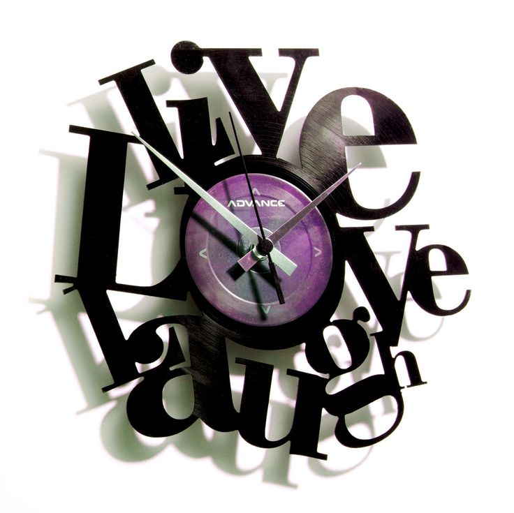 Disc'O'Clock Ceas de perete Live Love Laugh