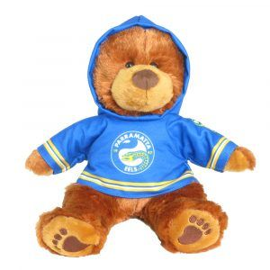Eels Plush Toys Supporter t-shirts with hood printed with team colours and logos