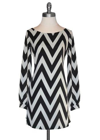 Black Chevron dress