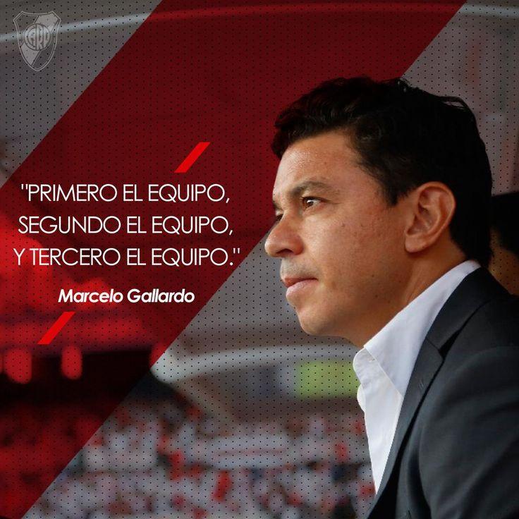 Siempre el equipo. Gallardo #River #DT #Muñeco