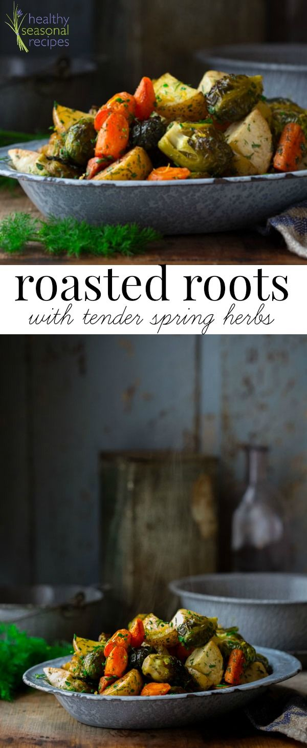 Blog post at Healthy Seasonal Recipes : This recipe for mixed roasted root vegetables and Brussles sprouts has fresh chopped spring herbs and lemon zest added in for freshness. Lea[..]