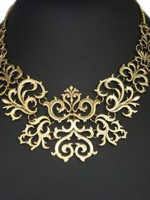 Newly Retro Style Alloy Bronze Chunky Necklaces For Women img