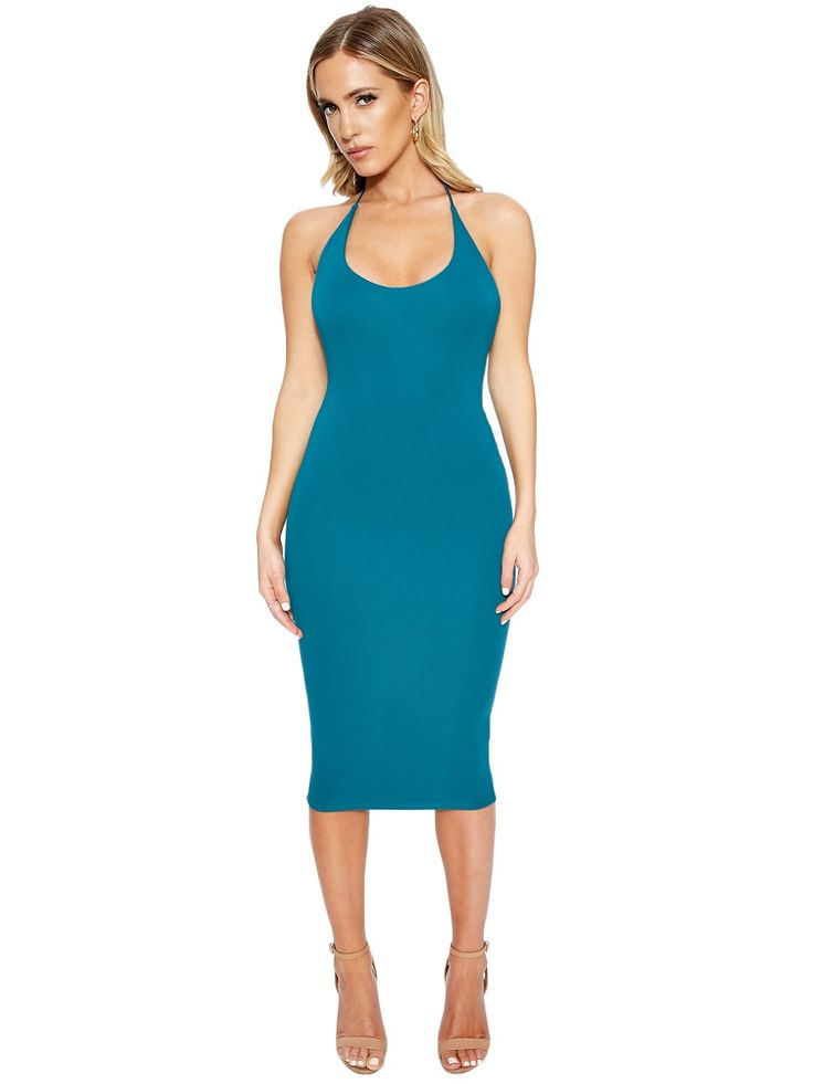 Halt+&+Come+Through+Dress+-+Life+just+comes+to+a+HALT-ER+when+you+look+this+good!++This+skin+tight+dress+comes+to+you+with+a+scooped+neckline+and+halter+style+that+ties+at+the+back+of+the+neck.++Open+back+with+a+scooped+cut+to+show+some+skin+action!++There's+no+telling+how+many+hearts+will+stop+dead+in+their+tracks+when+you+make+your+entrance!++HAUTENESS.+++Made+In+USA  +95%+Modal,+5%+Spandex  +Model+is+wearing+size+Small  +Runs+true+to+size