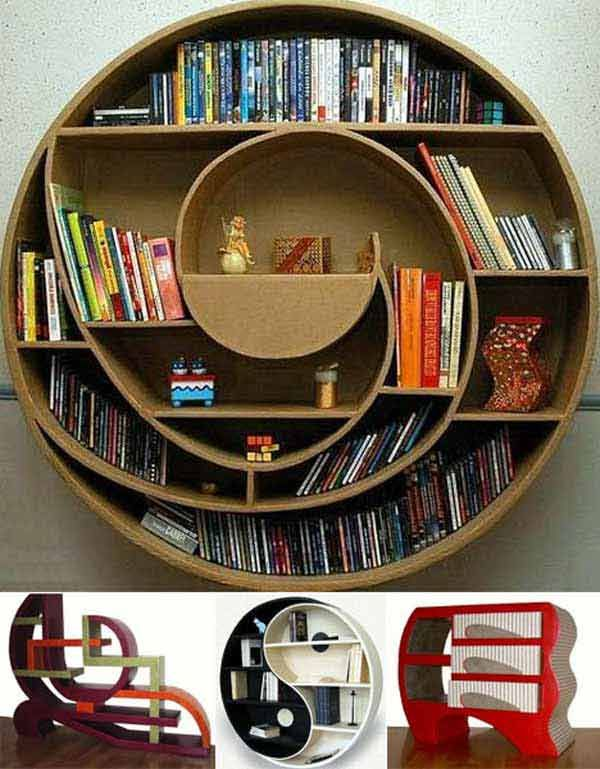 Rounded Bookcase   More Great Bookcases