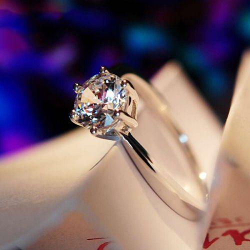 Elegant 1.55 Ct Engagement & Wedding VVS1 10K White Gold  Women's Gift Ring #GoldJewellery17 #Solitaire