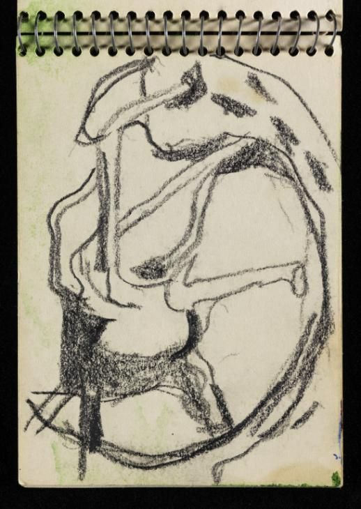 Graham Sutherland OM 'Sketch of tree forms similar in type to those in 'Trees by a River' 1965', [c.1962–7] © The estate of Graham Sutherland