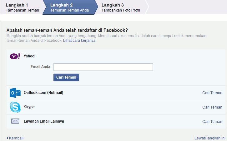 daftar facebook baru