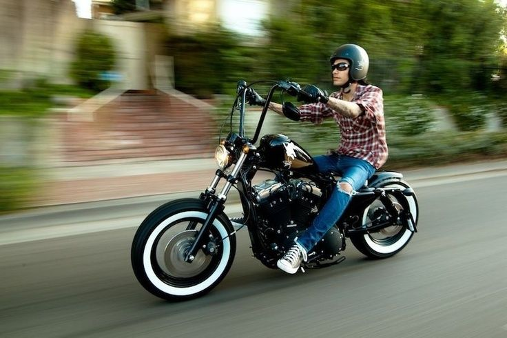 Harley Davidson Forty Eight Ape Hangers Moto Pinterest