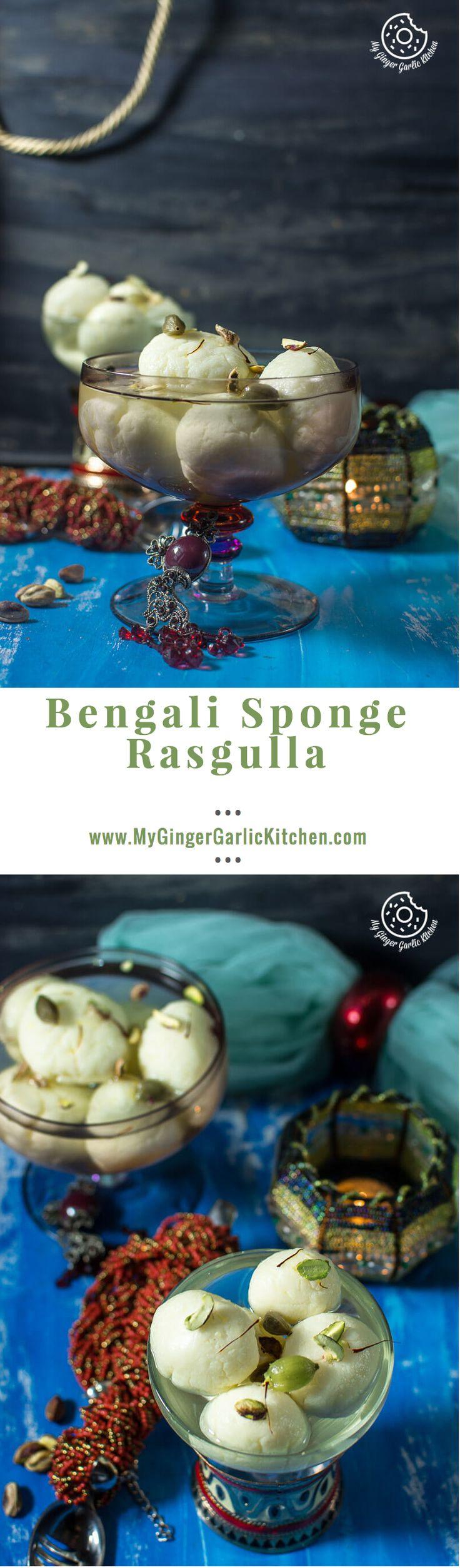 How To make Sponge Rasgulla | mygingergarlickitchen.com/ @anupama_dreams
