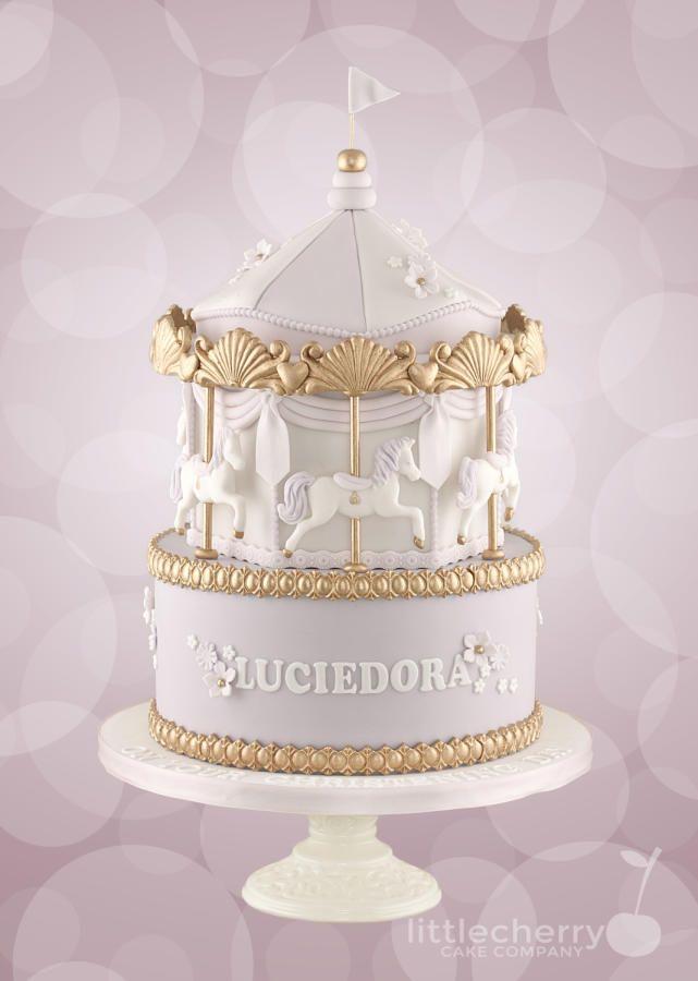 Carousel Christening Cake by Little Cherry