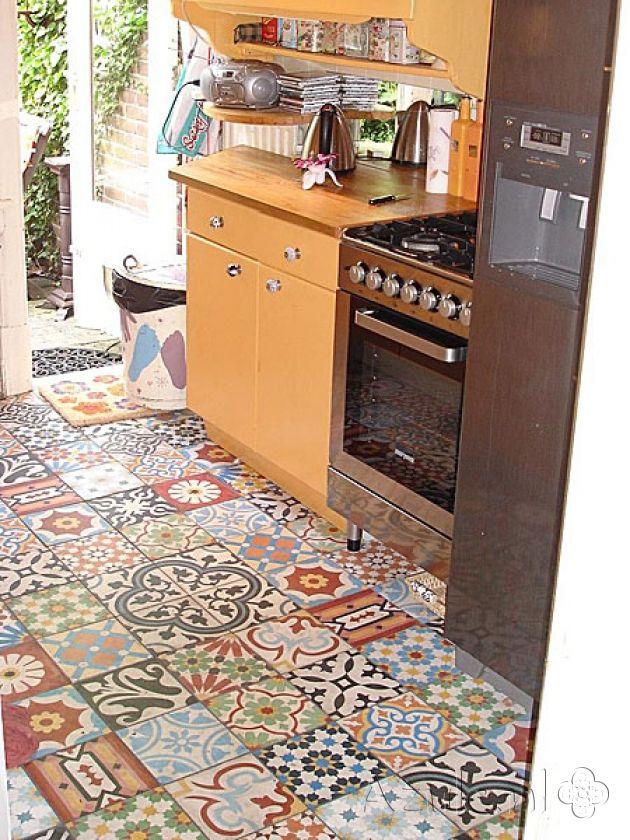 Cement tiles Living Room - Patchwork - Project van Designtegels.nl