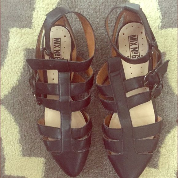SALE Strappy Flats from DSW Cute black with silver buckle flats perfect for spring or summer with jeans or a dress! DSW Shoes Sandals