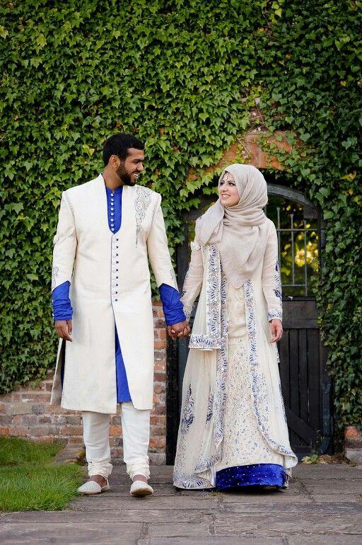 ADORABLE MUSLIM DESI WEDDING COUPLE MADE BY ORDER BBM 28B4C7EB