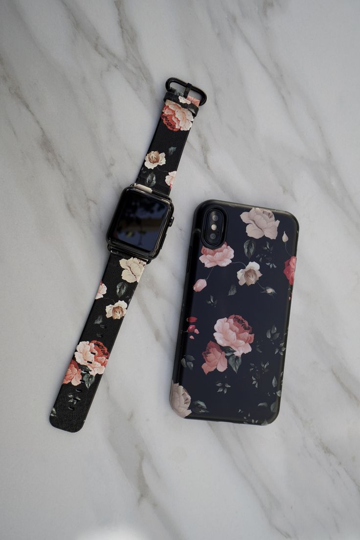 Matching matching ⌚️ Dark Rose vegan leather Apple Watch band for 38mm and 42mm Apple Watch, series 1, series 2, series 3 from Elemental Cases #darkrose #applewatch #iphonex #elementalcases