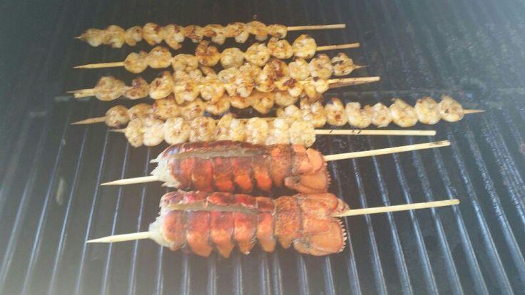 Shrimp Kabobs & Lobster Tails | Grill Master | Pinterest | Lobster tails, Kabobs and Lobsters