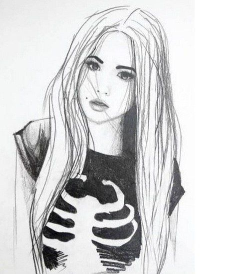 картинки девушки для срисовки в лд