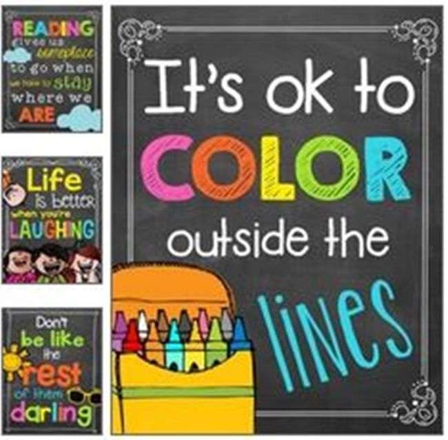 Chalkboard Colorful Classroom Poster Quotes - 27 Classroom Poster Sets: Free and Fantastic - Teach Junkie
