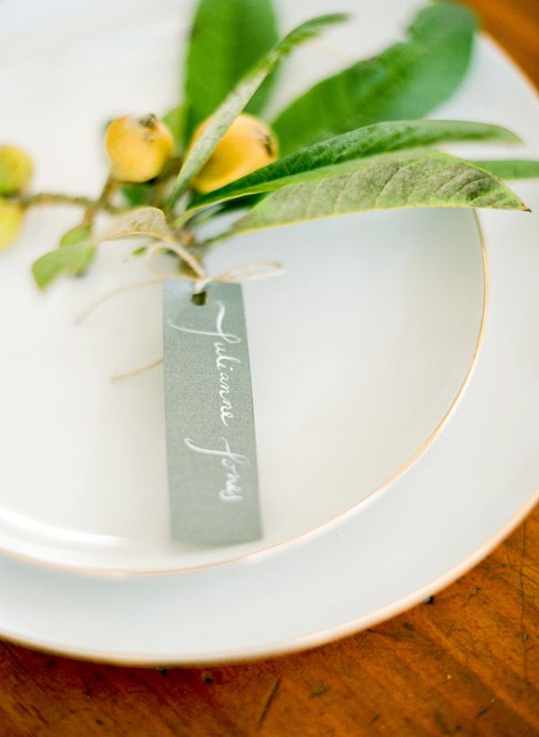 Like. Escort card tag by Oil & Ink.