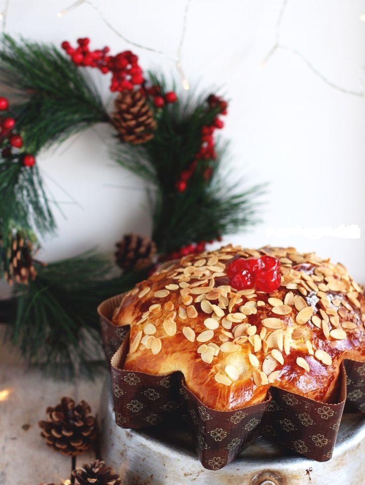 Βασιλόπιτα τσουρέκι γεμιστή με πραλίνα και καρύδια - Συνταγή