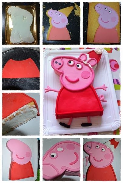Peppa Pig Cake Tutorial
