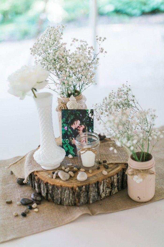 Beautiful Rustic Shabby Chic Wedding Centerpiece Ideas Rustic