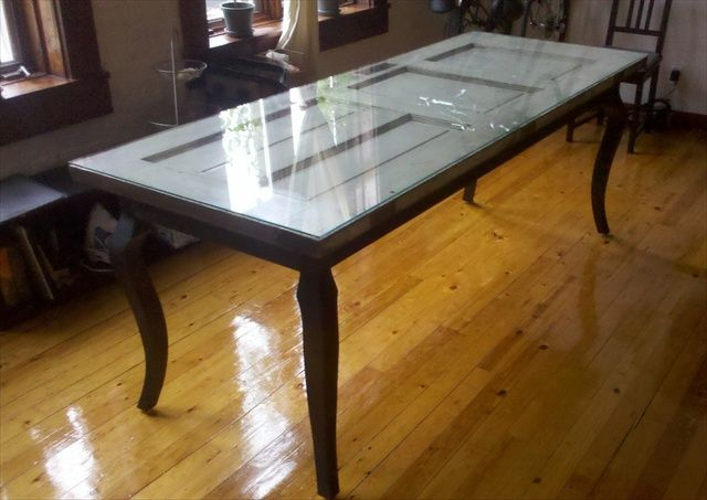 Dining Table Making A Dining Table Out Of A Door & Best 25+ Door tables ideas on Pinterest | Door table Old door ... pezcame.com