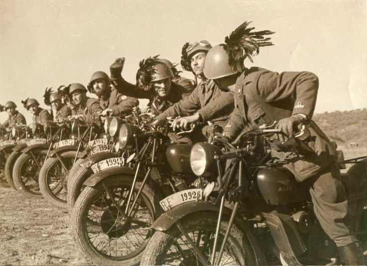 A flock of militant motorcyclists?