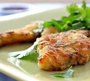 Pan-Fried Thai Crusted Fish (Easy!): Easy Thai Crusted Fish, served here with fresh coriander