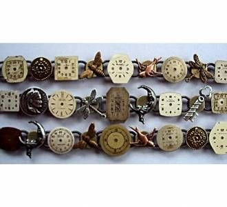Steampunk bracelets by New Zealand jewellery designer Selma Rainey.