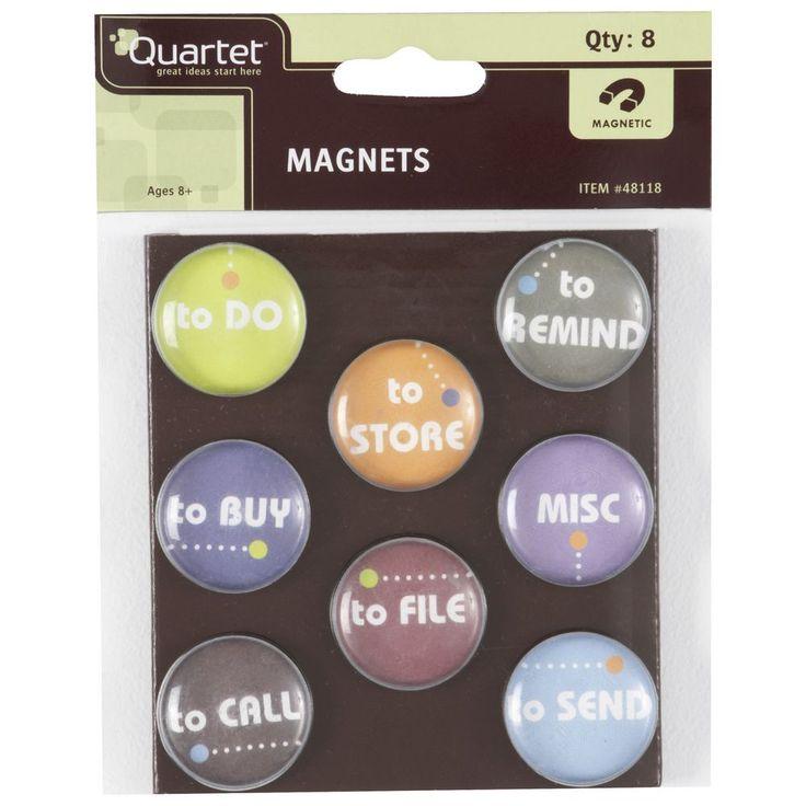Quartet To Do Magnets 8pk   Officeworks