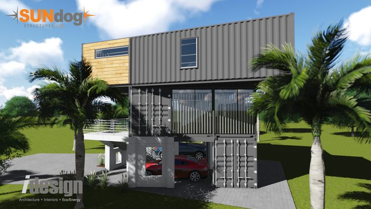 Paradigm shift home design out of shipping containers-Great home container design by Sundog Structures.