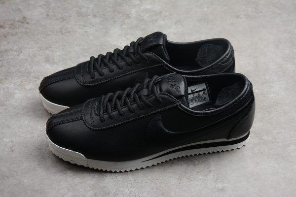 Nike Cortez  72 SI Black Black-Ivory Leather Shoes 881205-001-3 61e9086be