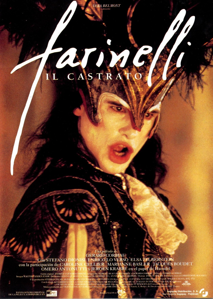"""Farinelli, il Castrato"" (dir. Gérard Corbiau, 1997).  Incredible representation of baroque opera."