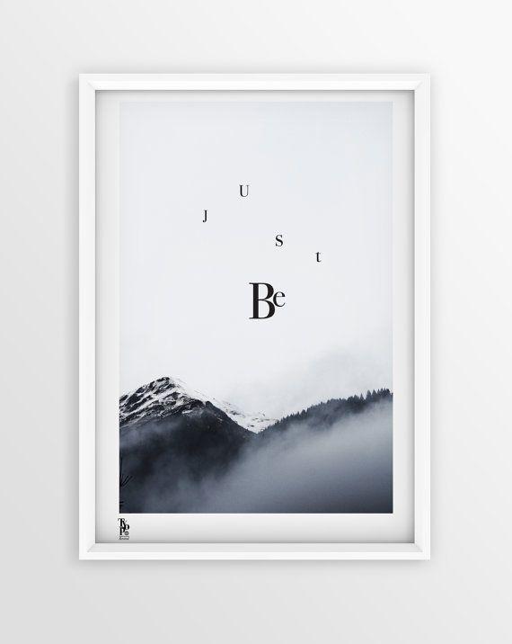 Typographic Kunstdruck JUST BE von SagesmitLiebe auf Etsy