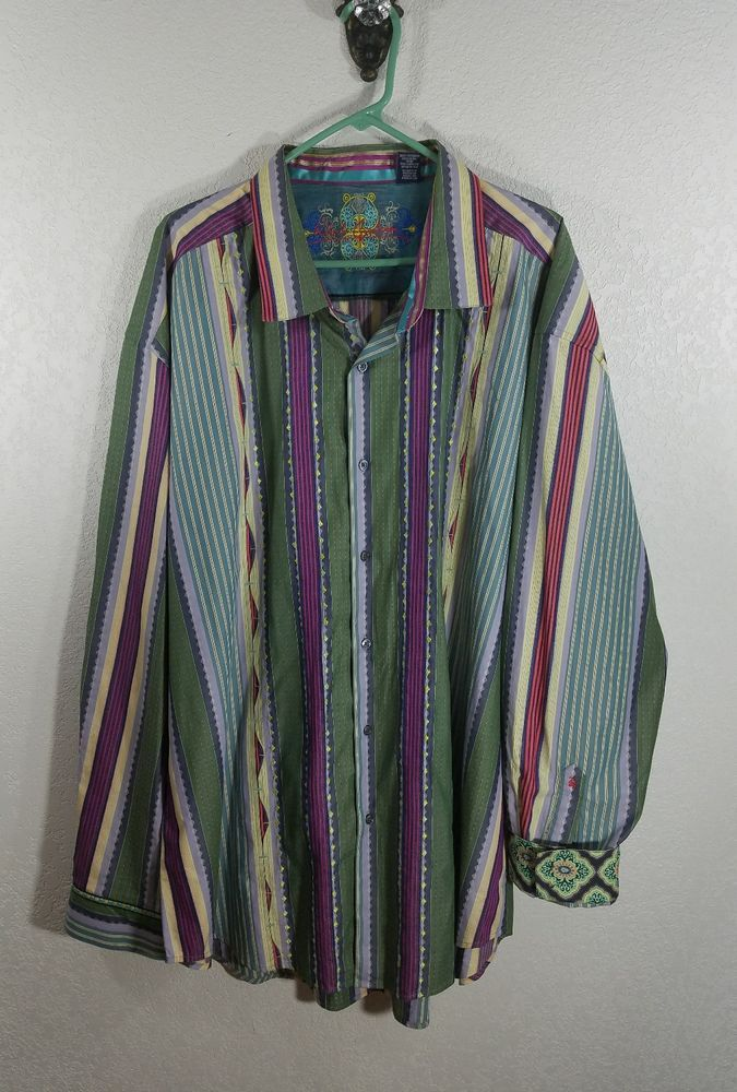 ROBERT GRAHAM MEN'S SHIRT. SIZE: 4XL. MATERIAL: 100% COTTON. | eBay!