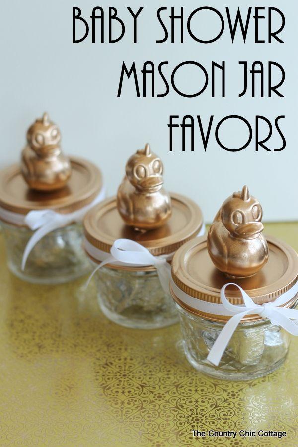 Baby Shower Mason Jar Favors