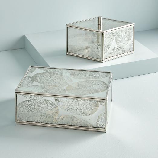 Terrace Shadow Box Brass Jewelry Stand Glass Shadow Box Glass Boxes Mirror Box