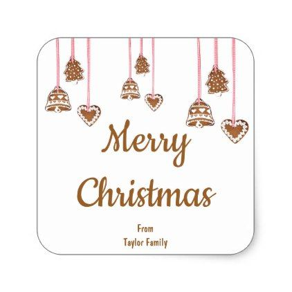Personalized Sticker for Christmas Greeting - christmas craft supplies cyo merry xmas santa claus family holidays