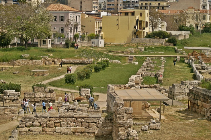 Kerameikos has a number of sights to see like a big part of the Themistoklean Wall, the Dipylon Gate, the Sacred Gate, the Pompeion and the Demosio Sima cemetery among others. (Walking Athens, Route 03 - Psiri / Monastiraki)